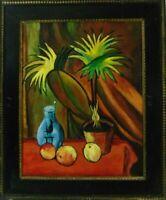 Expressionistisches Stillleben nach einem Gemälde von August Macke Öl Vase Obst