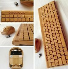 100% Handmade Natural Wooden Wireless 2.4GHZ Keyboard & Mouse Set For PC