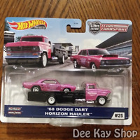 '68 Dodge Dart Horizon Hauler - Team Transport #25 - Hot Wheels Premium (2020)
