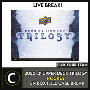 2020-21 UPPER DECK TRILOGY HOCKEY 10 BOX FULL CASE BREAK #H1202 - PICK YOUR TEAM