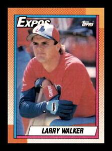 1990 Topps Larry Walker #757 Rookie Card RC Montreal Expos HOF