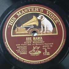 """78rpm 12"""" ELSIE SUDDABY ave maria / though reviling tongues assail us"""