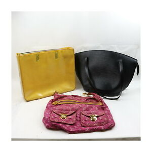 Louis Vuitton Epi Vernis Monogram Mini lin Shoulder/Hand Bag 3pc set 524060