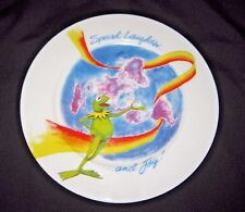 JIM HENSON TRIBUTE 21 KERMIT THE FROG MUPPET SPREAD LAUGHTER AND JOY PLATE 8 1/4