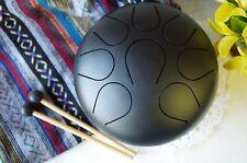 WuYou 9in Steel Tongue Drum Handpan drum Chakra drum, Great Christmas Gift,Black