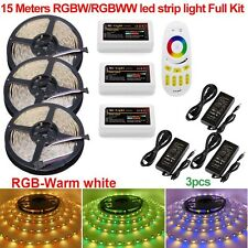 10M 20M 5050 RGBW RGBWW Mi 4-Zone Led Strip Light +2.4G Touch Remote+12V Adapter