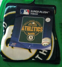 NEW! Oakland A's Official MLB 46x60 Super Plush Throw Blanket