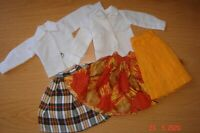 VINTAGE SINDY TAMMY SKIRTS AND SHIRTS 60S