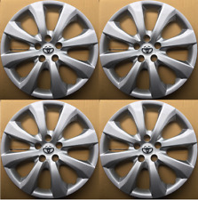 "4 Hub Caps for 2009-2020 Toyota Corolla/Matrix 16"" Wheel Covers Silver Set Of 4"