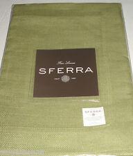 "Sferra CHEVRON PLACEMATS KIWI Green SET/4 European Woven Linen 15x20"" New"