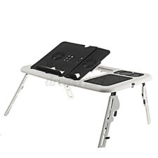 Adjustable Laptop Computer Desk Portable Table Bed Sofa Folding Width Stand Tray