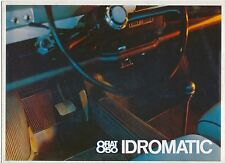 FIAT 850 IDROMATIC 1967-68 ORIGINALE UK SALES BROCHURE PUB. N. 2398