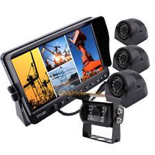 """7"""" Monitor Car Rear View Backup Camera System 1x Backup Camera + 3x Side Camera"""