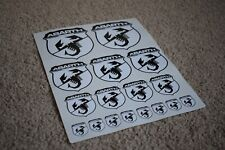 Fiat Abarth Scorpion Logo Badge Car Motorbike Racing Tuning Decal Sticker White