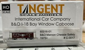 Tangent B&O I-18 Caboose B&O Maroon Chessie Safety