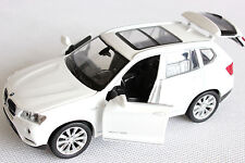 BMW X3 White 1:32 Diecast Car Model off road SUV Four Open Door new gifts
