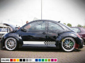 Decal sticker mirror Stripe kit For Volkswagen beetle body R line sport lowering