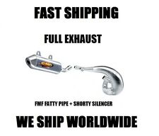 FMF FATTY PIPE EXHAUST + SHORTY SILENCER FULL EXHAUST 03-07 SUZUKI RM125 RM 125