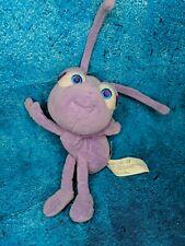 "Disney Bugs Life Dot Purple Insect Plush 6"" Stuffed Animal Toy"