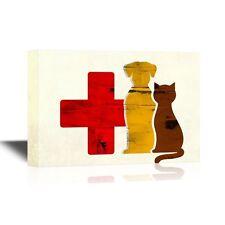 Wand 26-Vet Canvas Wandbild-Hund und Katze Vet Concept-bereit zu hängen - 16x24