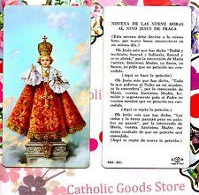 Novena de Las Nueve Horas Al Nino Jesus de Praga- Spanish - Paperstock Holy Card