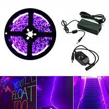 UV Schwarzlicht LED Streifen Netzteil Dimmer UV LED Strip 300 LEDs Lichtband 12V
