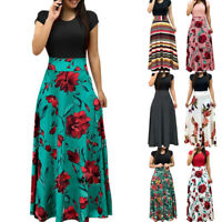 Women Summer Floral Maxi Dress Prom Evening Party Beach Casual Long Sundress New