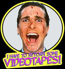 "00's Horror Classic American Psycho ""Return Some Videotapes!"" custom tee AnySize"