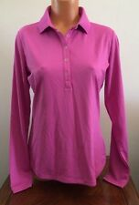 Womens Size Medium M Pink Nike Golf Long Sleeve Dri-Fit Shirt Top 508290 636