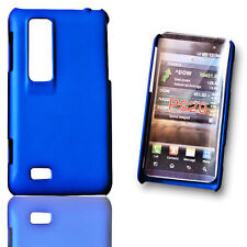 Handy Back Cover Hülle  Case Blau für LG P920 Optimus 3D + Displayschutzfolie