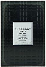 (21,98EUR/100G) 250G BURBERRY BRIT - FOR MEN CLEANSING BODY BAR SOAP / SAVON NEU