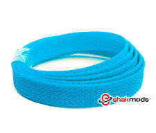 5 meters Shakmods Flat 10mm High Density Light Blue Braided Expandable Sleeving