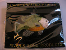 Bluegill Pin Hand Crafted Pewter Painted Bluegill Pin  Hat Tie Pin Rivers Edge
