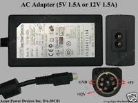 GENUINE APD DA-30C01 AC Adaptor 5V 1.5A 12V 1.5A 5 MINI PIN DIN