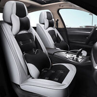 Deluxe PU Leather Car Seat Covers Front&Rear Full Set for 5-Seats Car SUV Truck