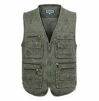 Men's Travel Vest Photography Reporter vest Concealed Carry Vest Fishing Vest