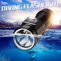 80m XM-L2 T6 LED Diving Underwater 80M Waterproof Torch Light Lamp Flashlight