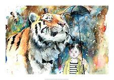 FANTASY ART PRINT Mr Tiger Lora Zombie