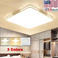 24W Square LED Ceiling Down Light Panel Fixture Flush Mount Kitchen Home Lamp US