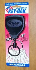 "Key-bak Self Retracting Key Reel Super 48"" Steel Cable - Please Read"