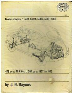 FIAT 500 500D 500F 500L & 500 SPORT (1957-73) OWNERS WORKSHOP MANUAL *HARDBACK*