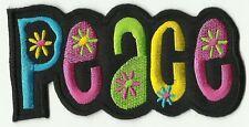 écusson ECUSSON PATCHE THERMOCOLLANT PEACE AND LOVE DIMENSIONS 11 X 5,3 CM