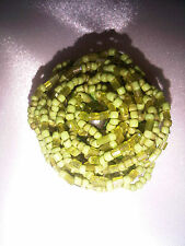 Vintage Style Green Bead Rose Elasticated Ring. Size O and Larger.  (J66)
