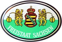 Freistaat Sachsen Schild Relief Emblem HR Art. 15856 Kristalldekor Aufkleber