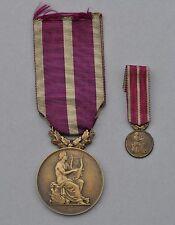Médaille des Sociétés Musicales et Chorales, ordonnance + réduction
