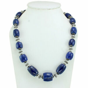Gemstone necklace natural lapis lazuli gemstone jewelry beaded handmade jewelry