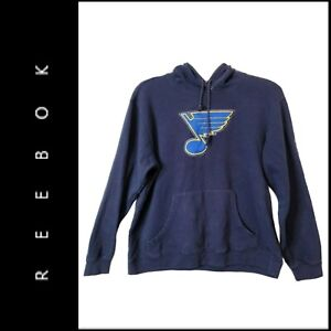Reebok St. Louis Blues NHL Women's Hoodie kangaroo Pocket Sweatshirt Size Large