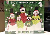 Susan Winget Snowmen Quintet 1000 Piece Puzzle New Sealed