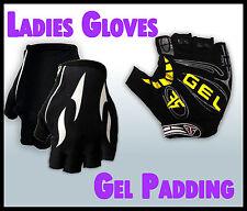 Ladies/Womens Cycling Bike Gloves w Gel Padding – Half-finger BRAND NEW