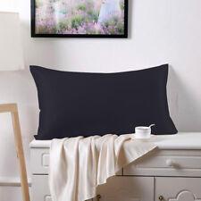 Soft Pure Silk Pillowcase for Hair & Facial Beauty Pillow Shams Cover Black